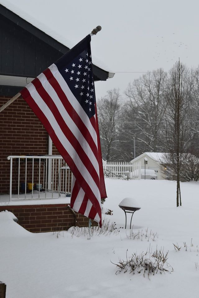 Flag in snow