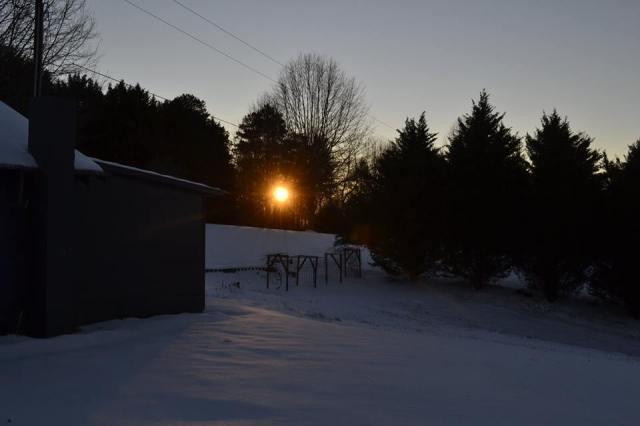 Sunrise in Snow