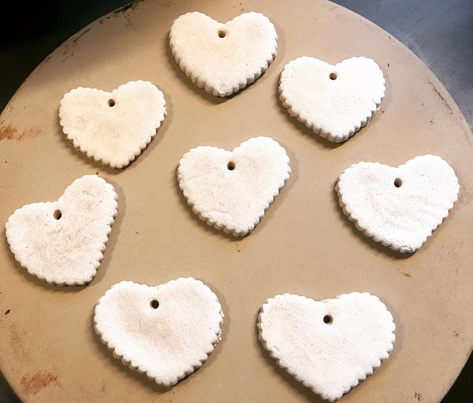 Salt ornaments hearts